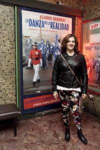 Pamela Flores en la avant premiere realizada en el Cine Normandie el 17 de junio.